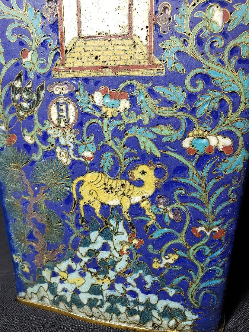 A Very Fine Chinese Enamel Cloisonne Vase Ming Period - 8