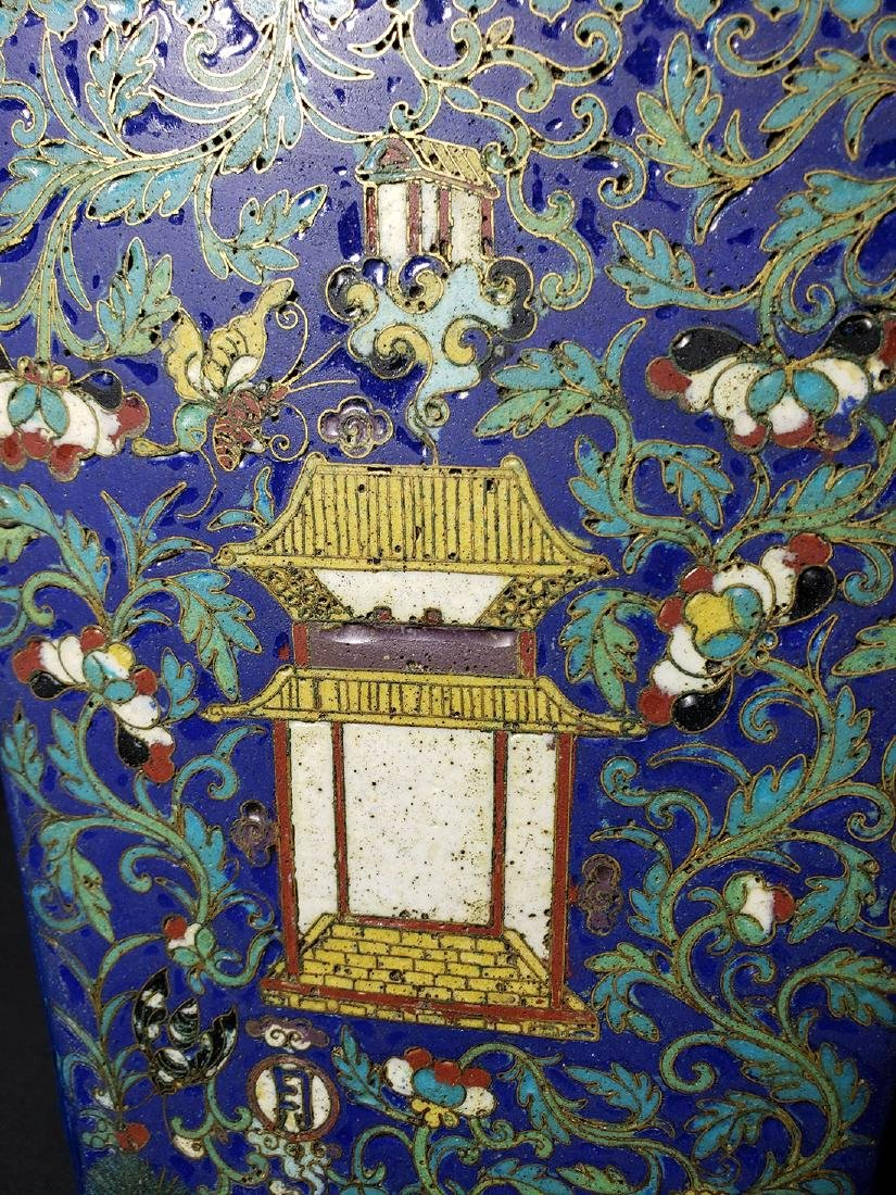 A Very Fine Chinese Enamel Cloisonne Vase Ming Period - 9