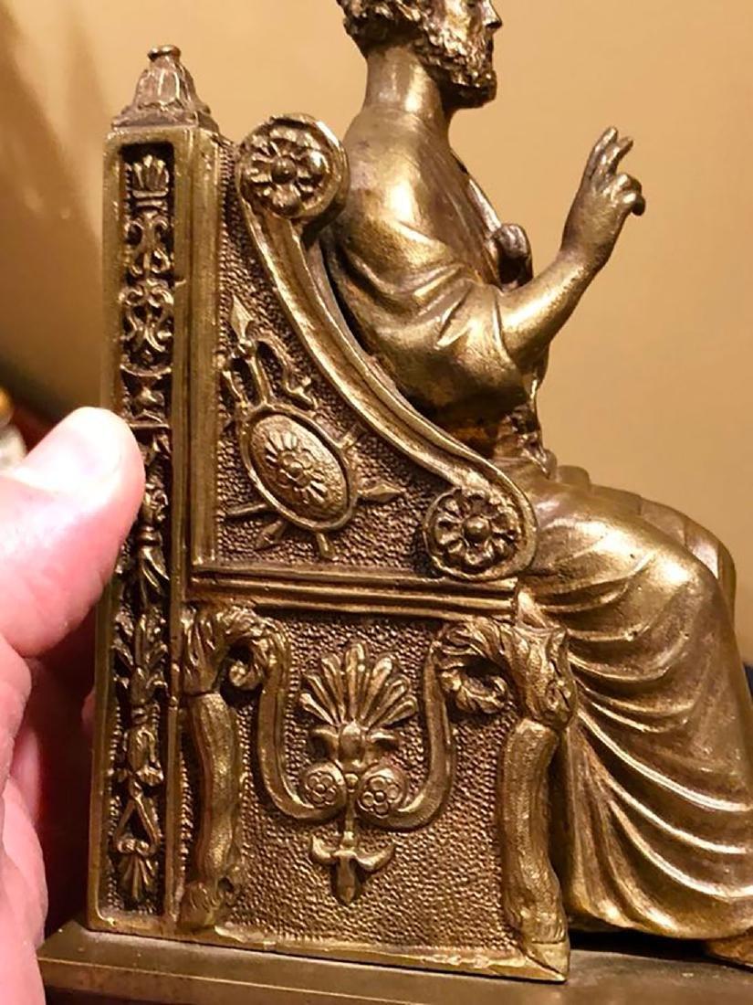 A Fine Antique Bronze Figure Of St Peter 19th C - 4