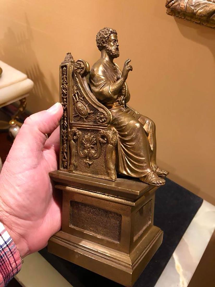 A Fine Antique Bronze Figure Of St Peter 19th C - 7