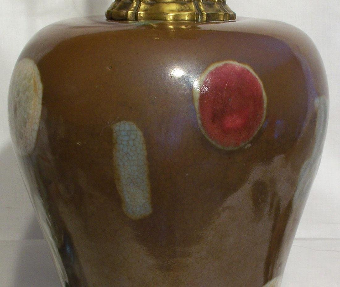 A Fine Antique Chinese Yongzheng Meiping Vase Lamp - 2