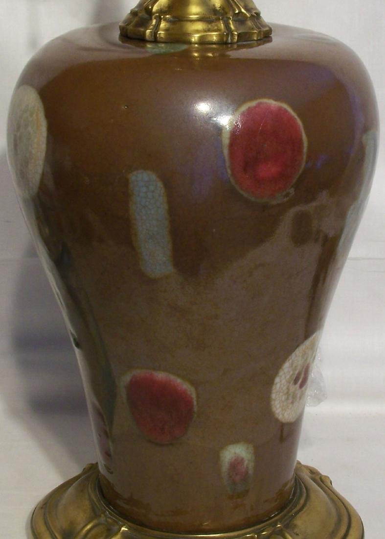 A Fine Antique Chinese Yongzheng Meiping Vase Lamp - 6