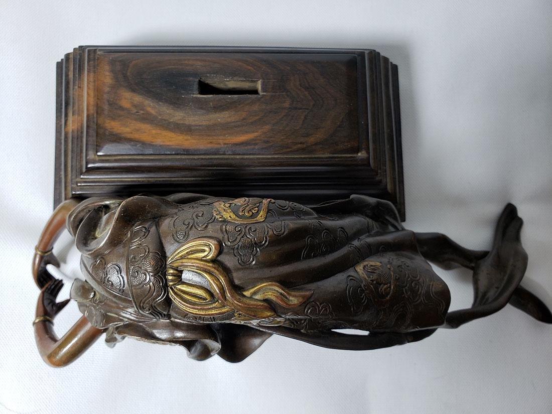 Antique Bronze Mixed Metal Lady 19th Century - 8