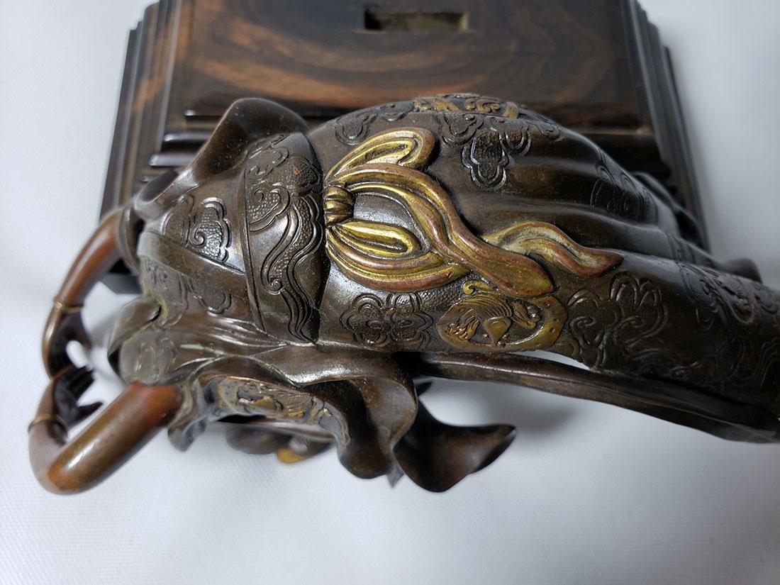 Antique Bronze Mixed Metal Lady 19th Century - 9