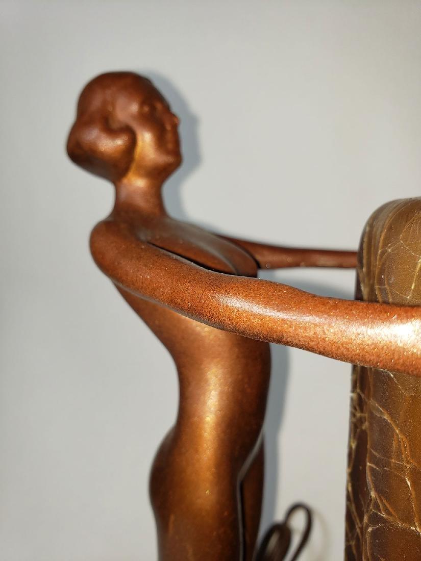 Antique Nuart Art Deco Nude Lady Lamp - 4