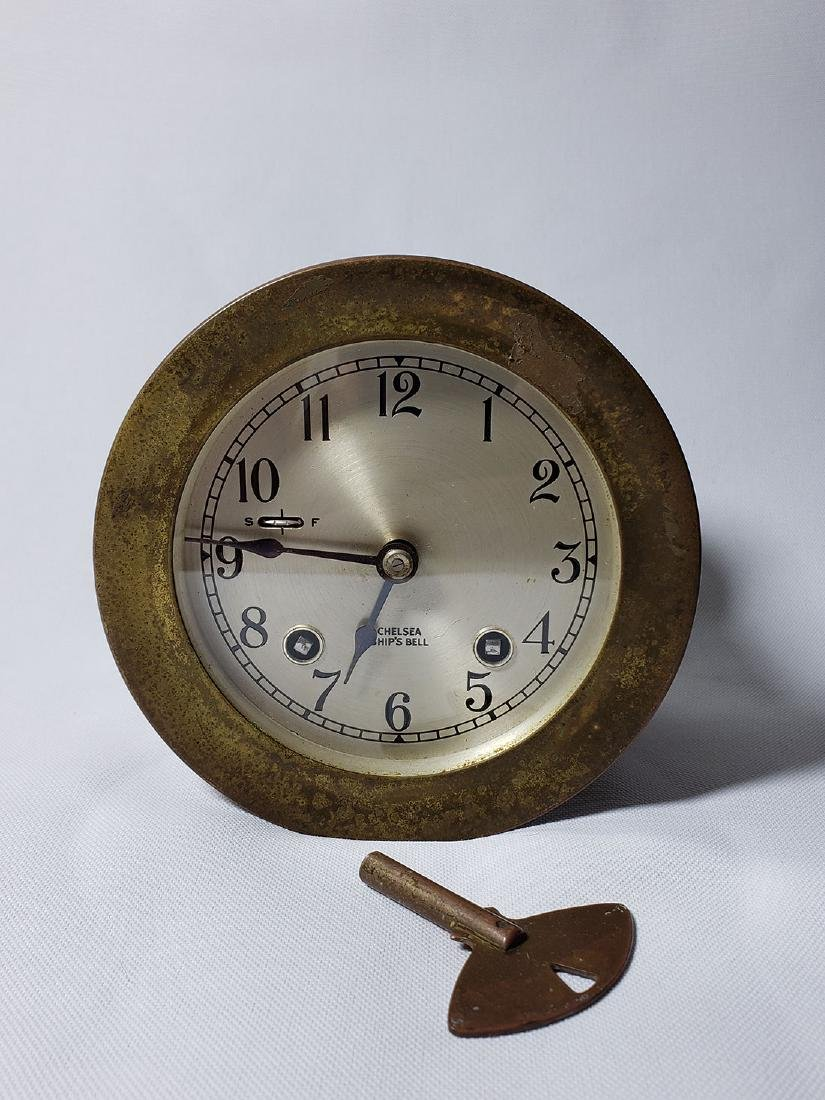 Vintage Chelsea Ship's Bell Clock Serial # 565859 Runs