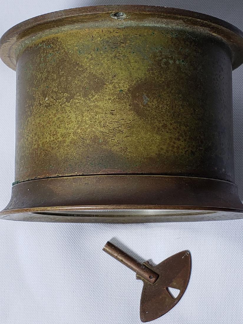 Vintage Chelsea Ship's Bell Clock Serial # 565859 Runs - 3