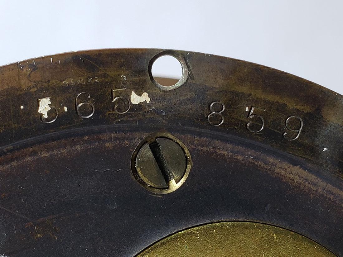 Vintage Chelsea Ship's Bell Clock Serial # 565859 Runs - 6
