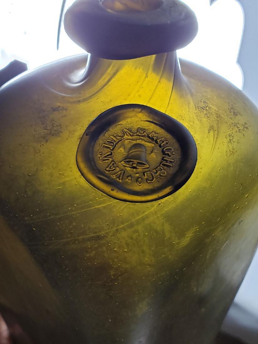 17-18 c Vandenberg Seal Olive Color Gin Bottle - 10