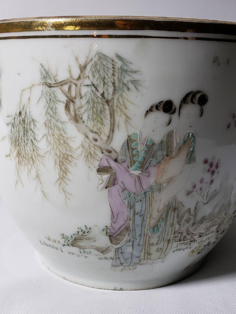 Antique Chinese Famille Rose Enamel Lidded Pot W/ Marks - 7