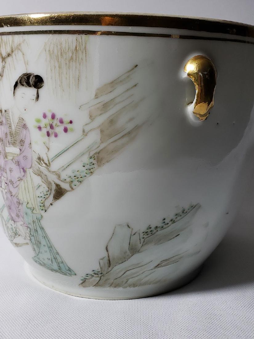 Antique Chinese Famille Rose Enamel Lidded Pot W/ Marks - 8