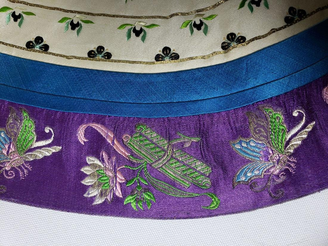 A very Fine Chinese Silk Collar late Qing Period - 5