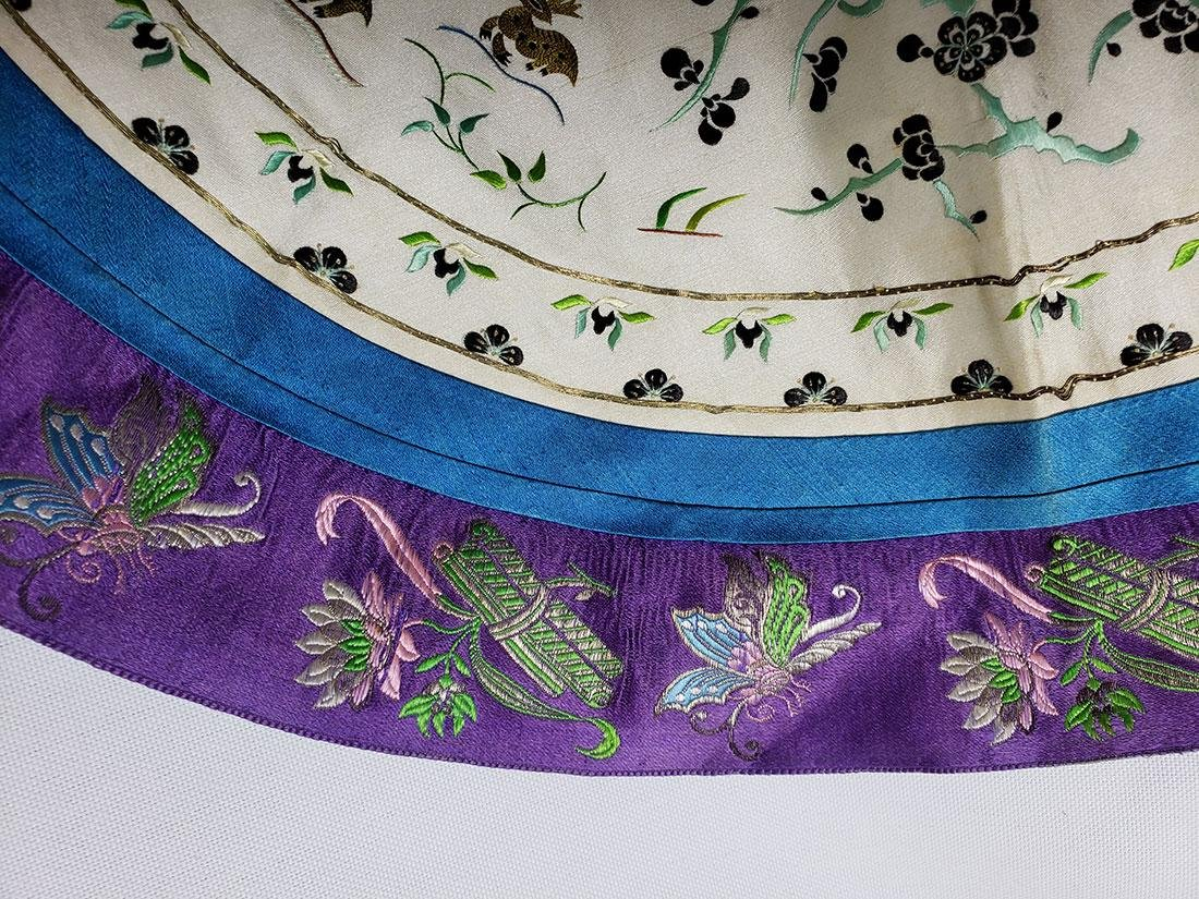 A very Fine Chinese Silk Collar late Qing Period - 6