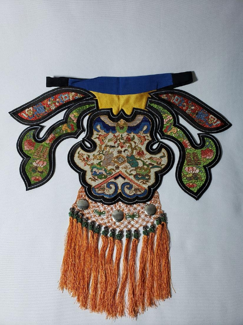A Very Fine Antique Chinese Silk Badge Qing Period