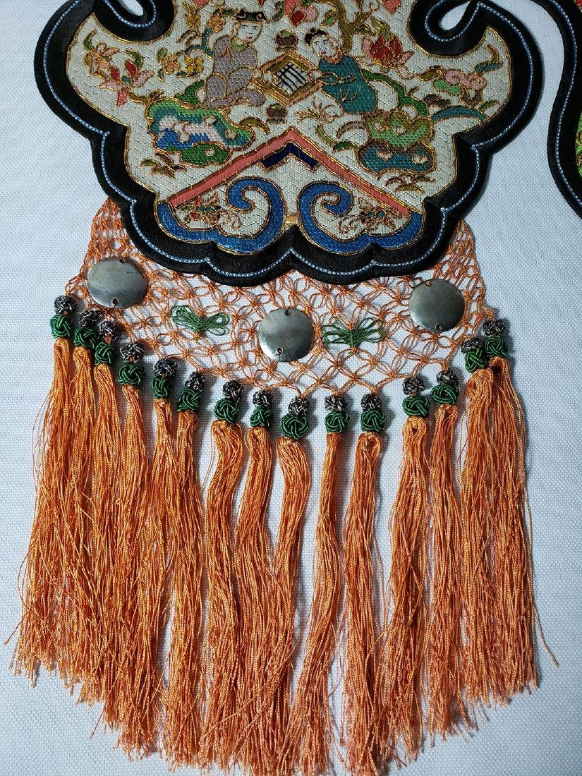 A Very Fine Antique Chinese Silk Badge Qing Period - 2