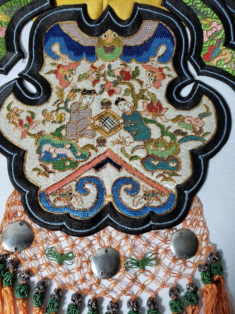 A Very Fine Antique Chinese Silk Badge Qing Period - 3