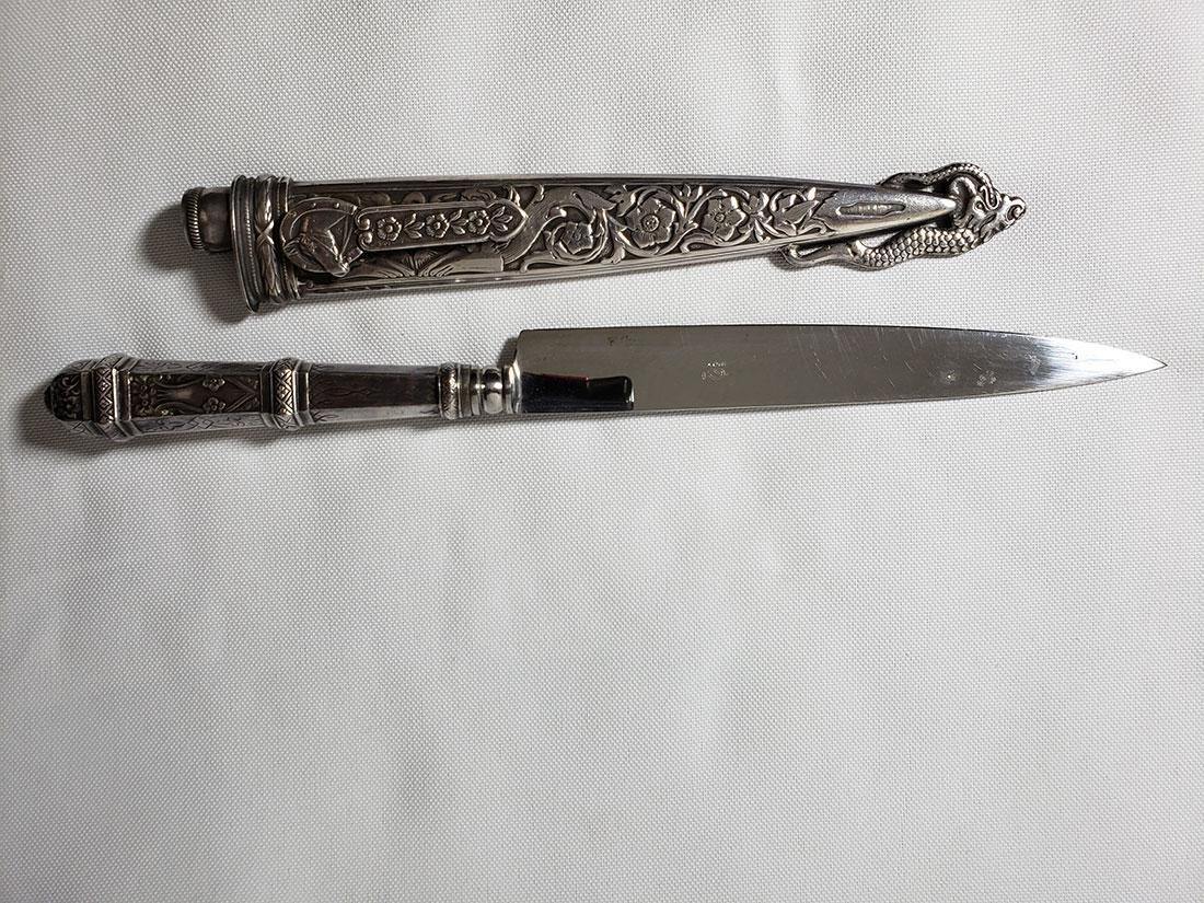 A fine decorative sterling silver letter opener 1900-30 - 10