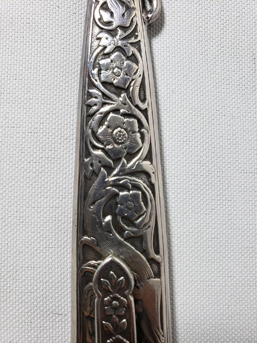 A fine decorative sterling silver letter opener 1900-30 - 3