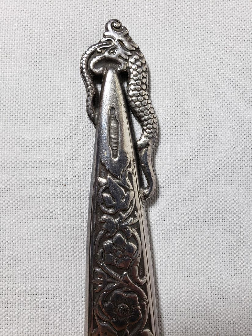 A fine decorative sterling silver letter opener 1900-30 - 4