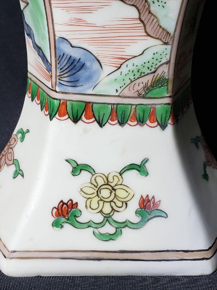 Antique Chinese Famille Verte Vase 19th C - 10