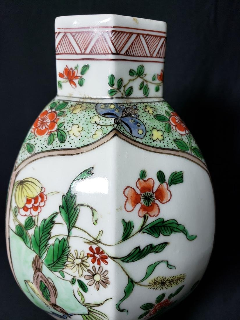 Antique Chinese Famille Verte Vase 19th C - 7