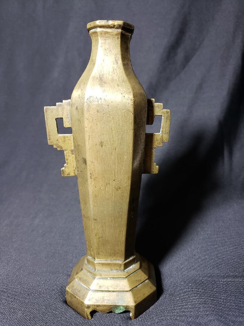 Antique Chinese bronze vase Ming period