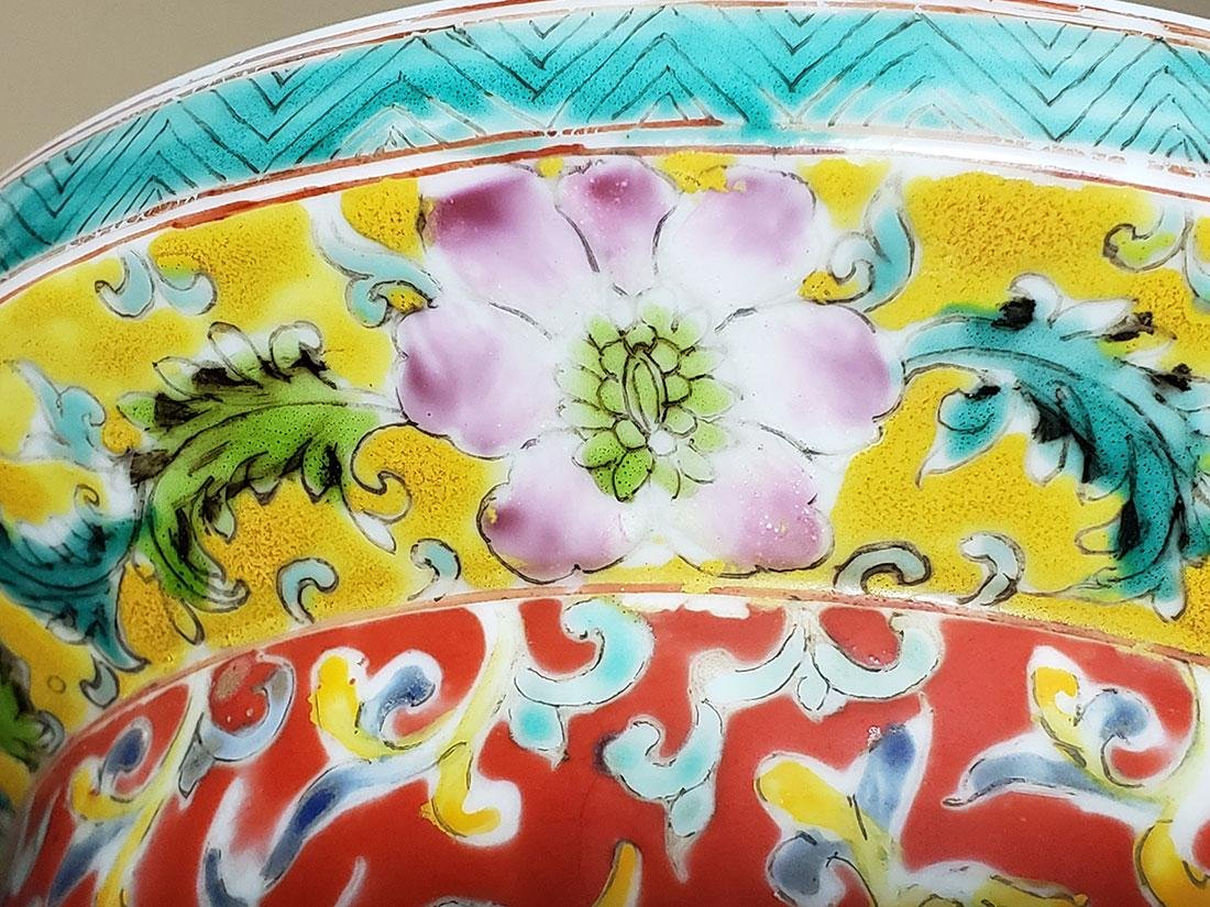 Large Chinese Famille Rose enamel Dragon Vase w/ Mark - 7