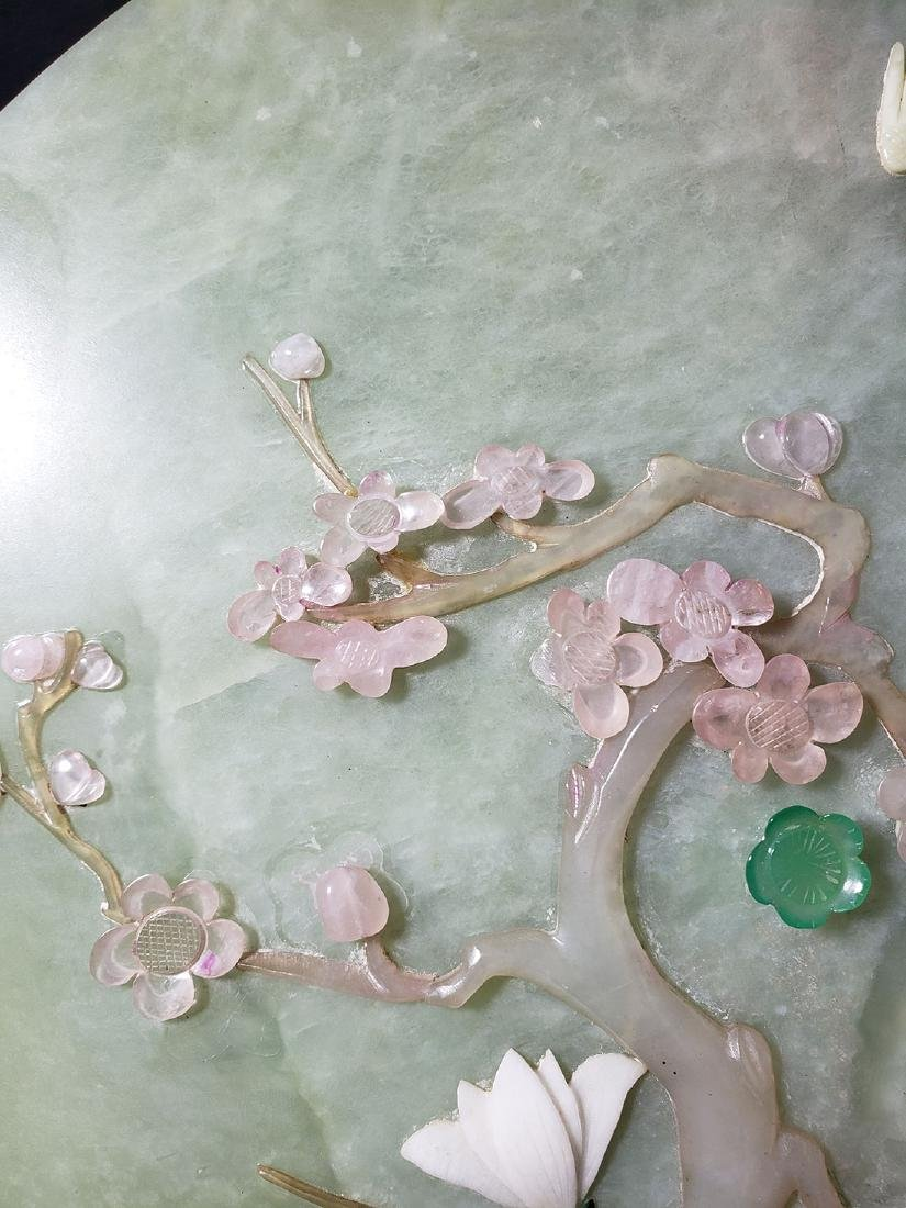 A fine Chinese jade plaque with mixed stones 1900 #2 - 3