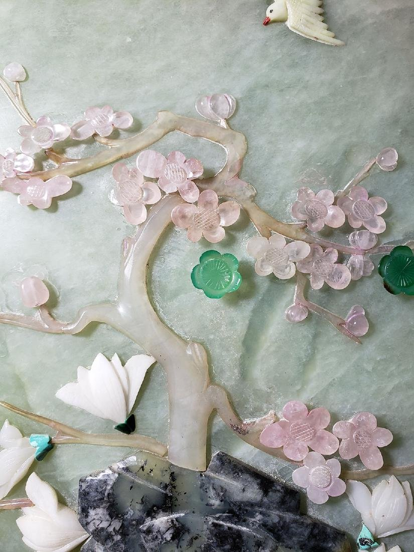 A fine Chinese jade plaque with mixed stones 1900 #2 - 4