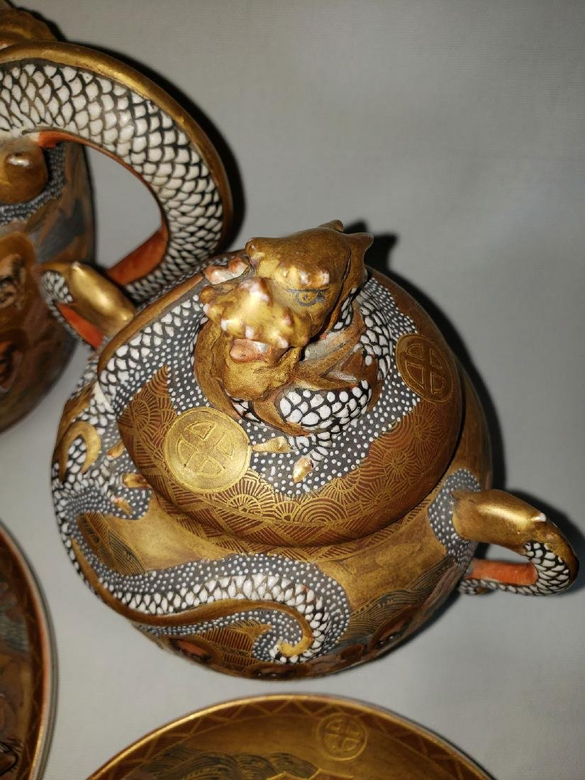 Japanese Satsuma Tea Set  by Hodota Meiji period 19 C - 10