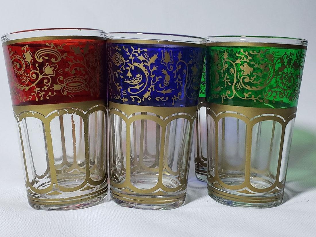 Set of 6 Bohemian double shot glasses