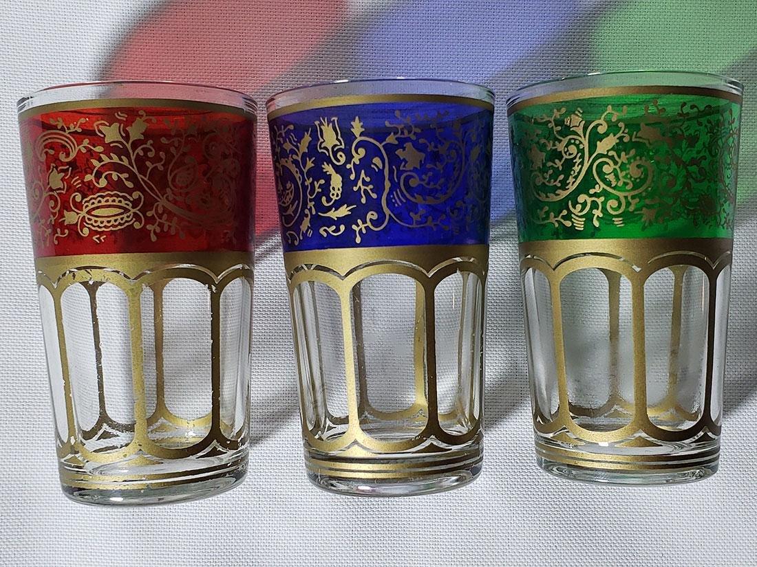 Set of 6 Bohemian double shot glasses - 2