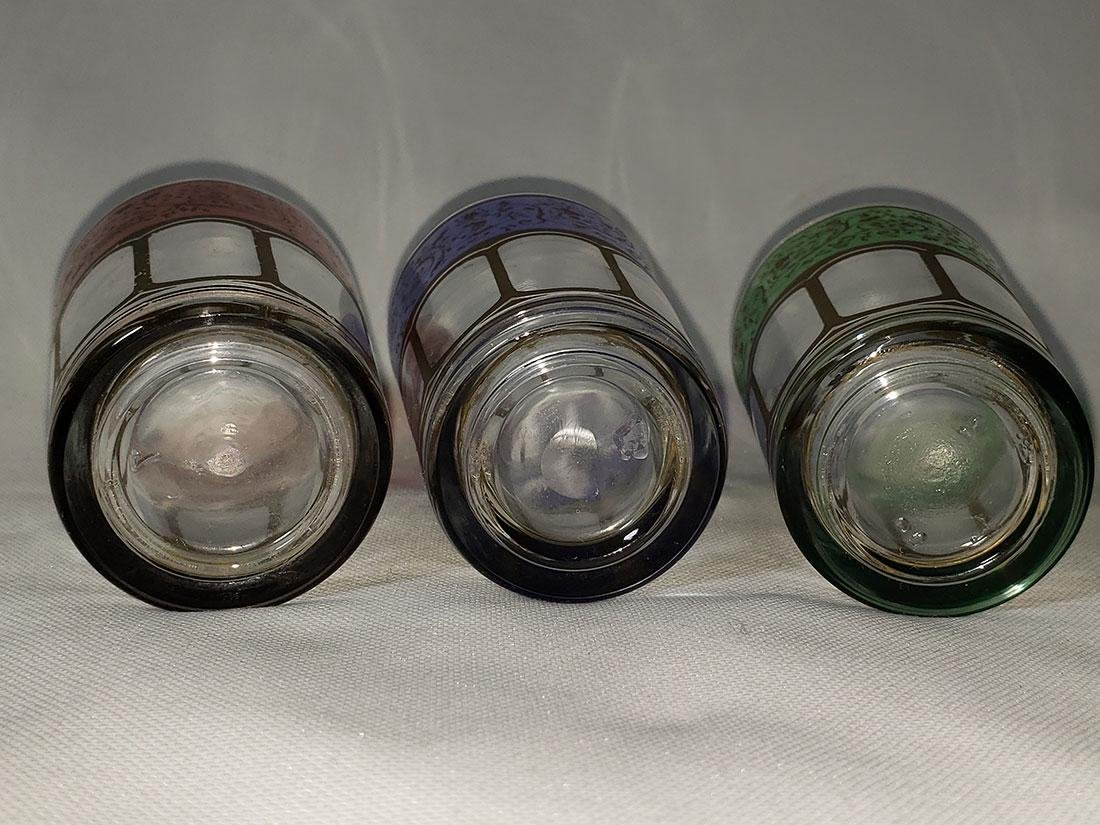 Set of 6 Bohemian double shot glasses - 4