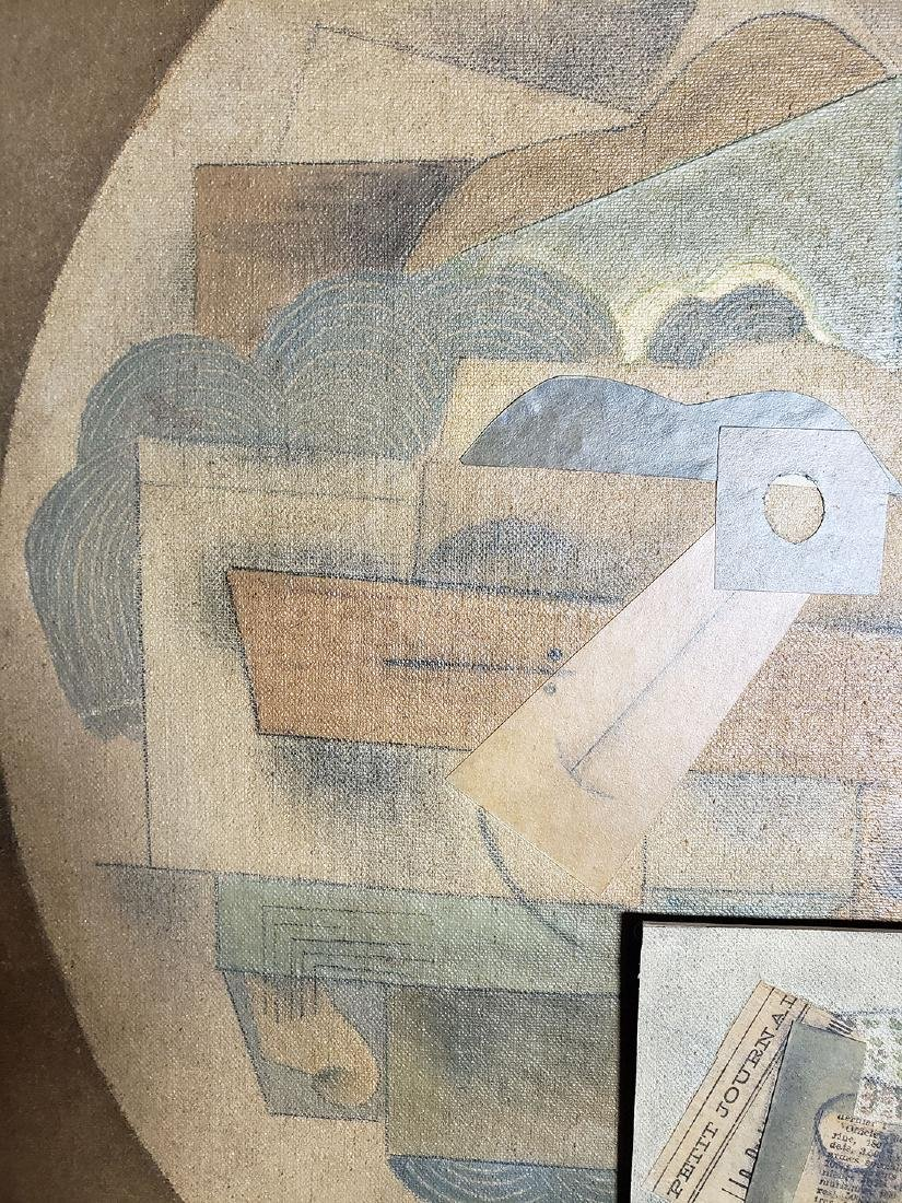 A collage Cubism painting Attributed to Juan Gris - 3