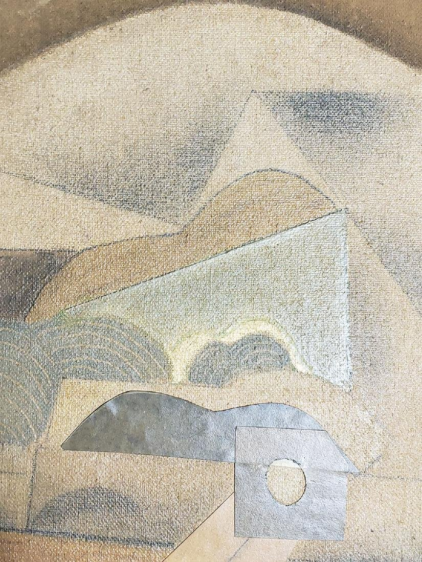 A collage Cubism painting Attributed to Juan Gris - 4