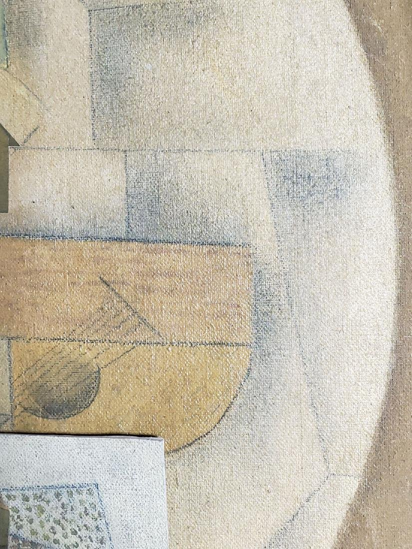 A collage Cubism painting Attributed to Juan Gris - 5