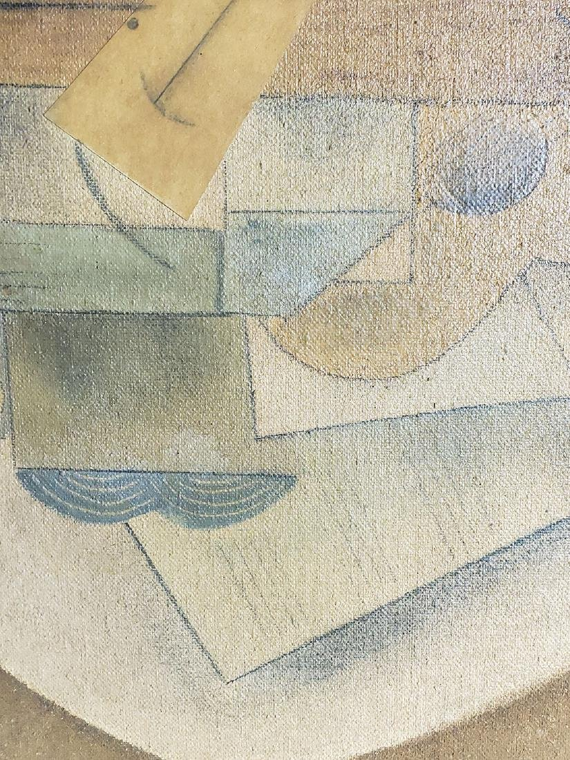A collage Cubism painting Attributed to Juan Gris - 6