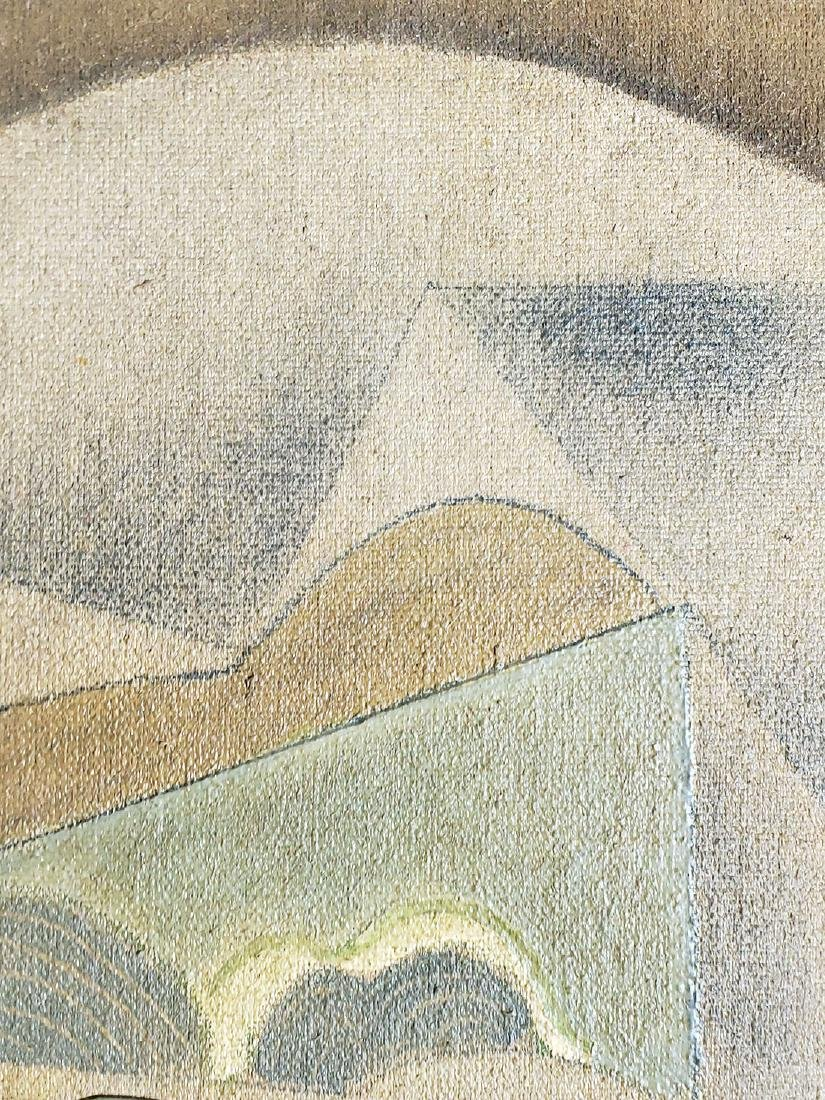 A collage Cubism painting Attributed to Juan Gris - 8
