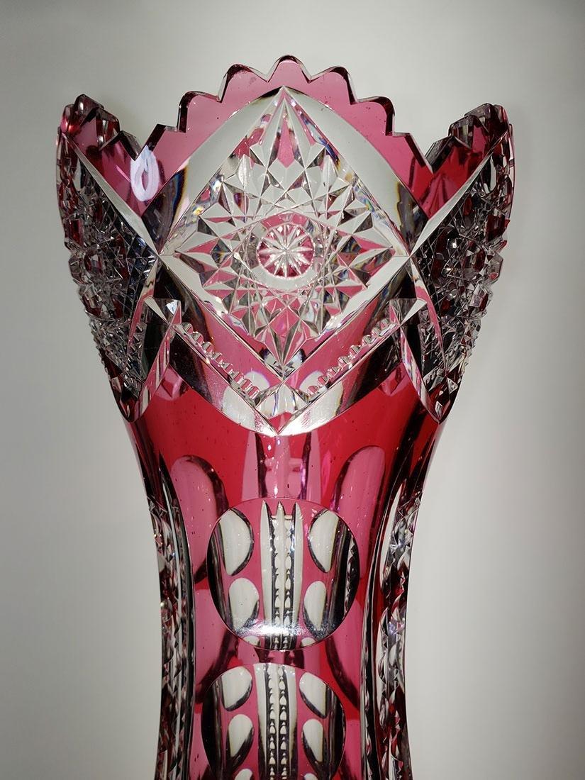 American Brilliant Period cut glass vase - 3