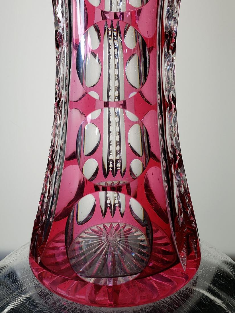 American Brilliant Period cut glass vase - 4