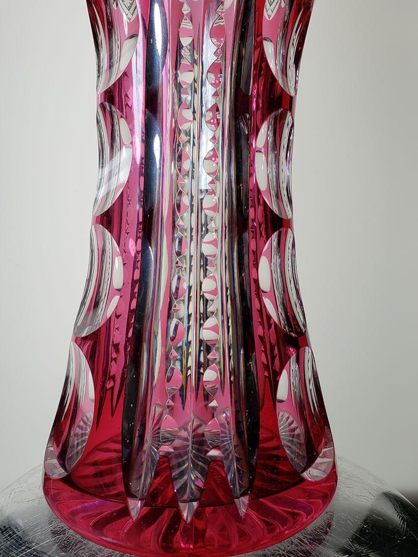 American Brilliant Period cut glass vase - 5