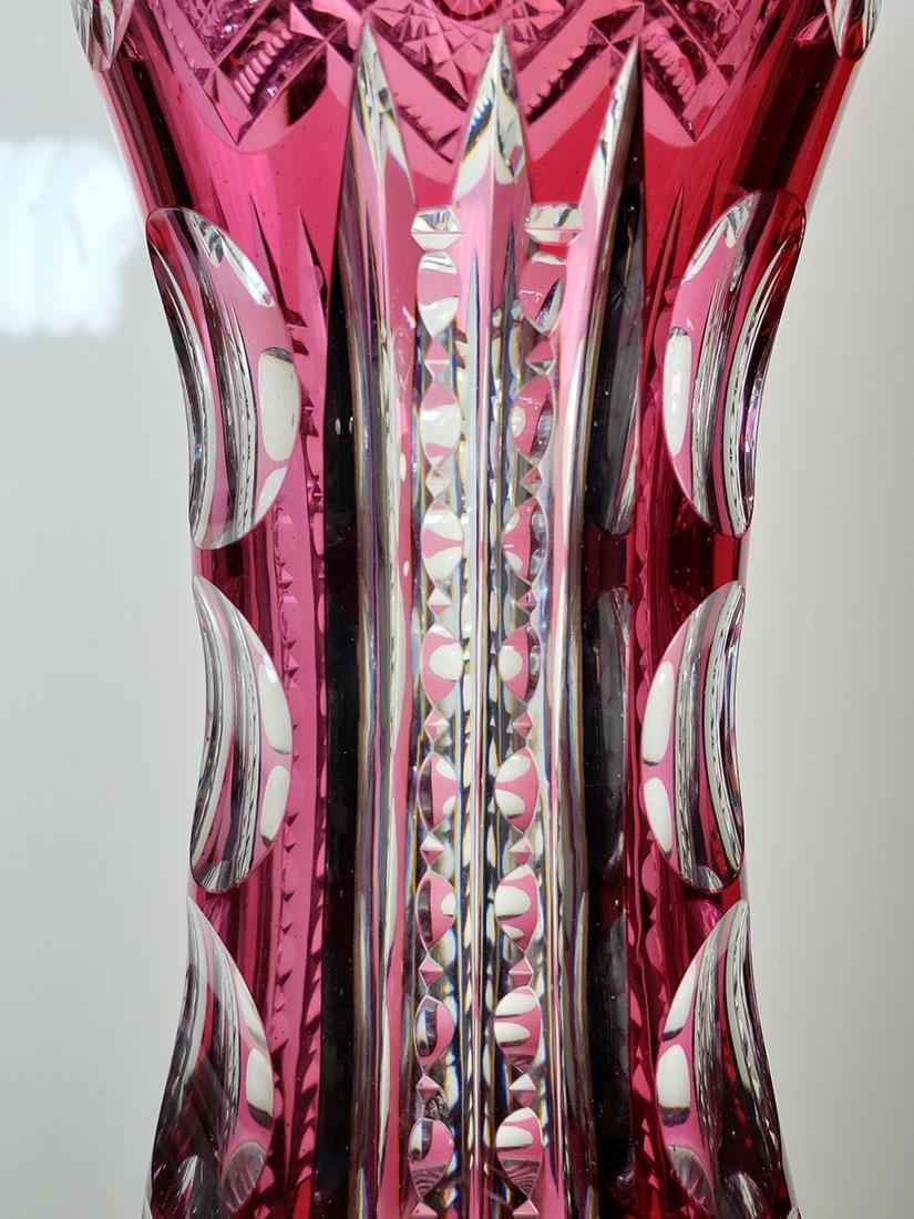 American Brilliant Period cut glass vase - 8