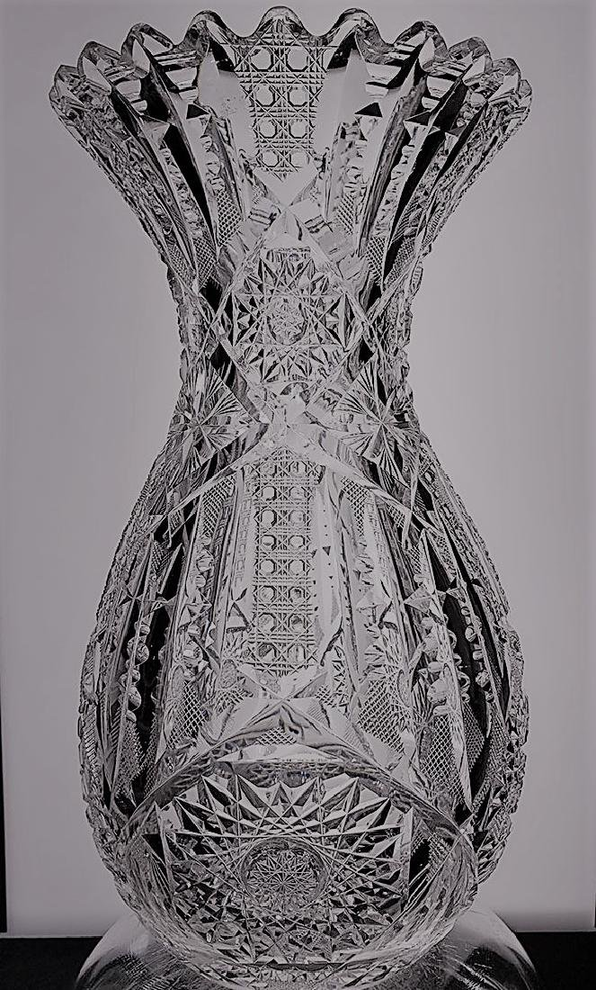 American Brilliant Period signed Libbey cut glass vase