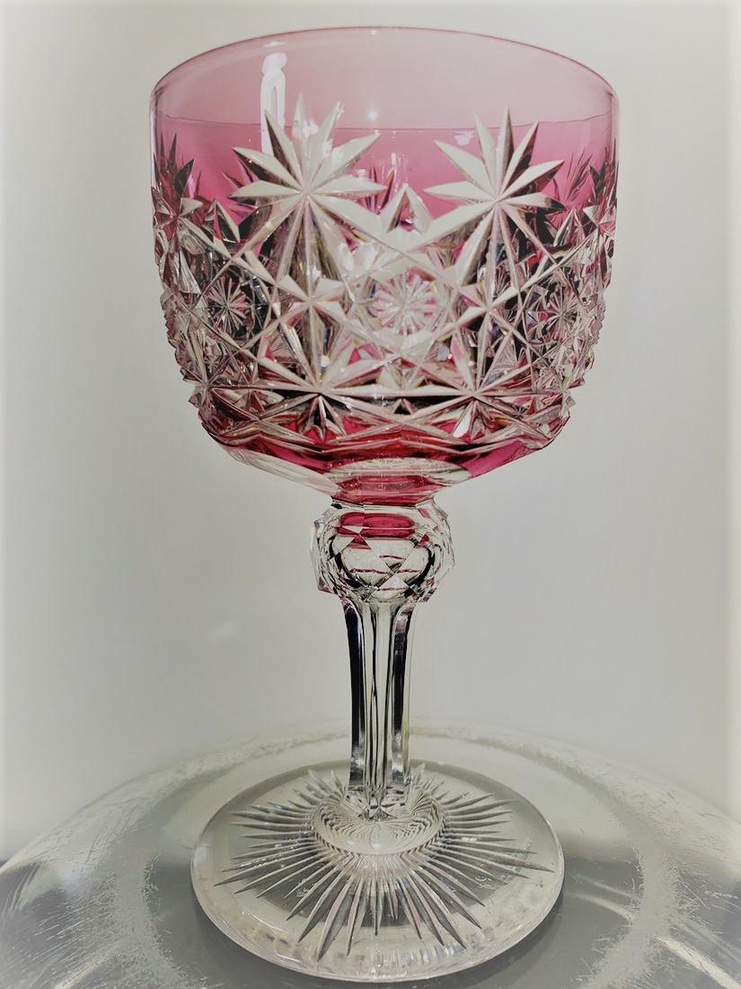 American Brilliant Period cut to clear wine glass ABCG