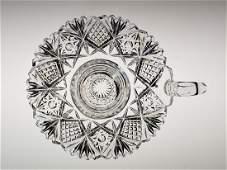 American Brilliant Period cut glass chamber stick