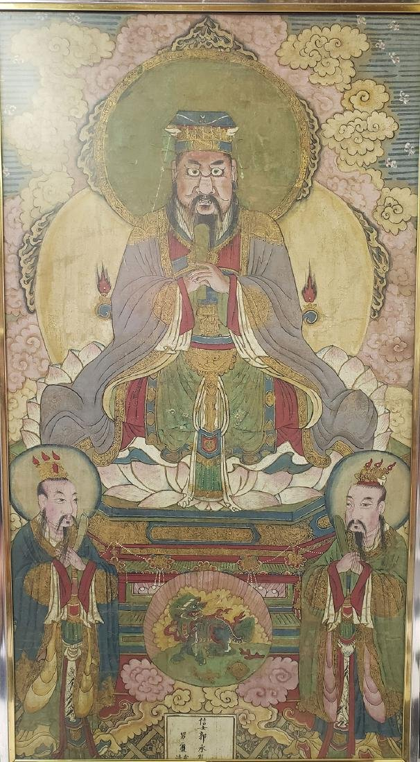 Lg Antique Chinese painting on silk Ming dynasty
