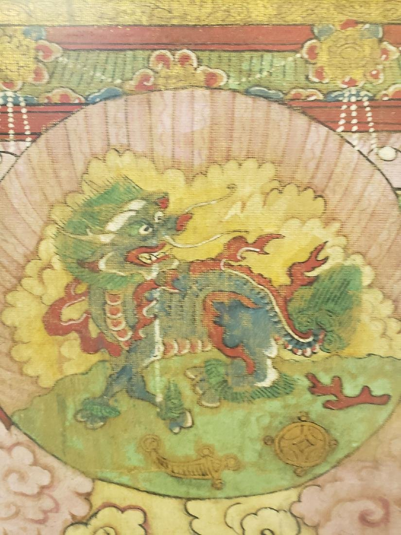Lg Antique Chinese painting on silk Ming dynasty - 4