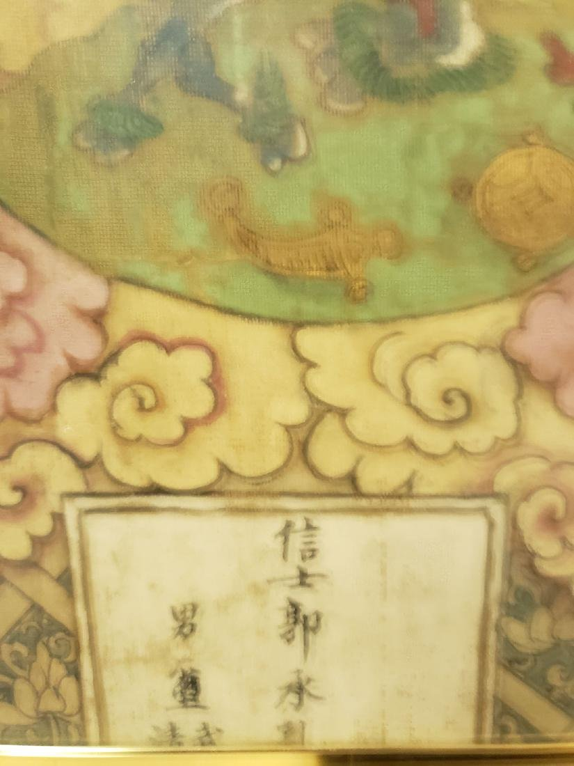 Lg Antique Chinese painting on silk Ming dynasty - 5
