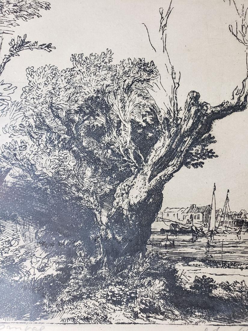 Antique Rembrandt engraving signed - 3