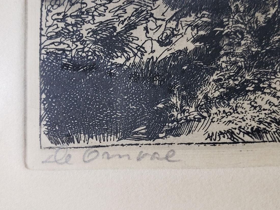 Antique Rembrandt engraving signed - 4